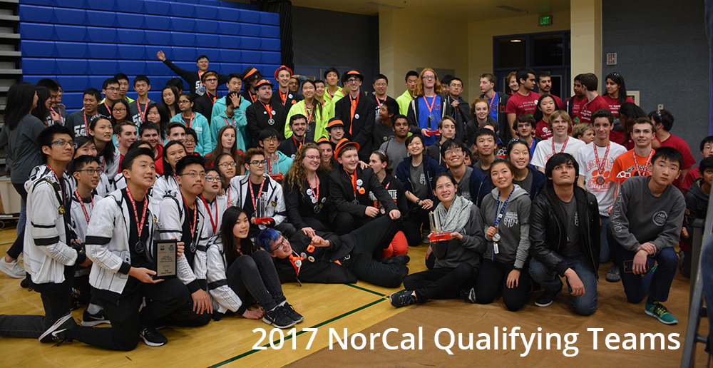 2017 NorCal FTC Qualifying Teams